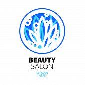 Blue Ball Of Leaves creative design For Beauty Salon
