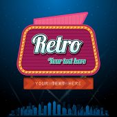 Retro casino sign with copyspace