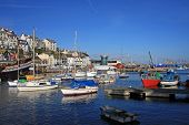 foto of lobster boat  - moored boats in Bristol inner harbour - JPG