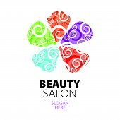 abstract colorful design icon lace flower petals