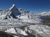 Ama Dablam And End Of The Nuptse Glacier