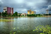 Downtown Lakeland, Florida, on Lake Mirror