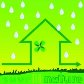 Save The Nature With Rain Vector