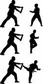 Vector silueta de Taekwondo