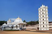 picture of hindu temple  - Beauty white hindu temple in Goa - JPG