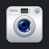 Washing machine. Laundry icon. 10eps