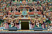 image of meenakshi  - relief of menakshi temple madurai tamil nadu india - JPG