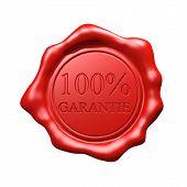 Rotes Wachs Siegel - 100 % Garantie - isoliert