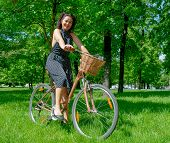 MOSCOW - MAY 19: Cyclist poses during the Day of the Uniform Bike Action on May 19, 2013 in Moscow.