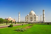 stock photo of mausoleum  - Taj Mahal in Agra - JPG