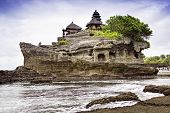 foto of tanah  - Tanah lot temple on Bali island - JPG
