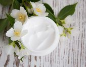 Face Cream With Jasmine Flowers
