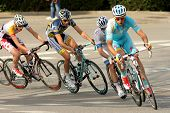 BARCELONA - MARCH, 24: Andrey Kashechkin(R) of Astana rides during the Tour of Catalonia cycling rac