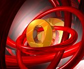 Letter O In Abstract Space