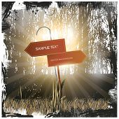 Guidepost Abstract Vector