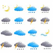 Weather Icon Set Summer Night