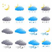 Weather Icon Set Winter Night