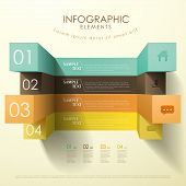 3D Cube Abstract Infographics