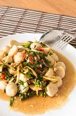 Stir Fried Fish Ball With Spicy Thai Herbs