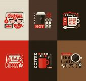 Hot Coffee. Set Of Vector Design Elements