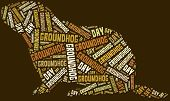 stock photo of groundhog day  - Tag or word cloud Groundhog Day related in shape of groundhog - JPG