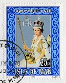 Postage Stamp Celebrating The 25Th Anniversary Of The Coronation