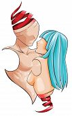 picture of loveless  - Abstract human dummy couple is showing love in a conceptual way create by vector - JPG
