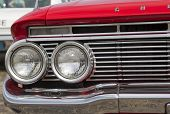 1961 Red Chevy Impala Headlights