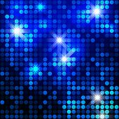 Blue sparkle glitter background. Glittering sequins mosaic pattern. Template design of blue glittering background.