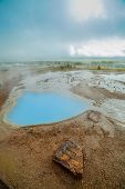 Geothermal activity landscape