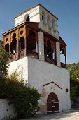 NOVY SVET, CRIMEA, UKRAINE - SEPTEMBER 25, 2006: Prince Lev Golitsyn House Museum in Novy Svet, Crimea, Ukraine. The museum was opened in 1978 in honor of the 100th anniversary of the Novy Svet Winery