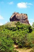 The Sigiriya (lion's Rock) Is An Ancient Rock Fortress And Palace Ruins, Sri Lanka