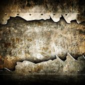 stock photo of ironworker  - grunge metal background - JPG