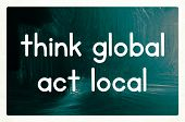 Think Global Act Local Concept