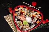 stock photo of sushi  - Traditional Japanese food Sushi - JPG
