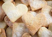 Zoete hartvormige Sugar Cookies