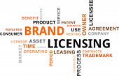 Word Cloud - Brand Licensing