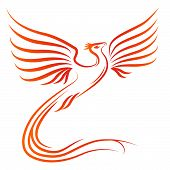 picture of risen  - Phoenix bird silhouette  - JPG