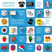 Ui, infographics and web elements