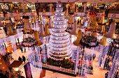 Christmas Decorations In Shopping Mall In Gurgaon