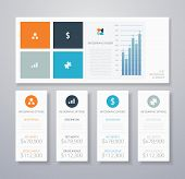Minimale Infographik flache Business-Ui-Elemente-Vektor-illustration