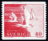 Postage Stamp Sweden 1971 Terns In Flight