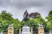 stock photo of leopold  - Statue in Brussels of Leopold II  - JPG