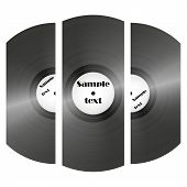set of retro music vinyl records vector