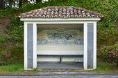 Bus Stop Sao Miguel, The Azores Islands, Portugal