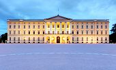 Royal Palace In Oslo At Night, Norway