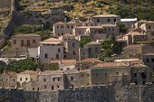 Medieval fortress in Greece - Monemvasia.