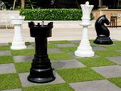 Outdoor Chess On The Garden