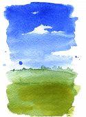 Summer Landscape Watercolor