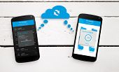 Two Mobile Phone Sync Through The Cloud.